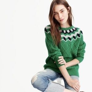 NWT J. Crew Collection Wide Neck Fair Isle Sweater